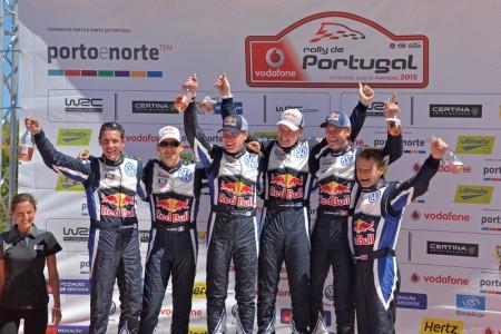Julien Ingrassia (F), Sébastien Ogier (F), Miikka Anttila (FIN), Jari-Matti Latvala (FIN), Andreas Mikkelsen (NOR), Ola Fløene (NOR) Volkswagen Polo R WRC (2015) WRC Rally Portugal 2015