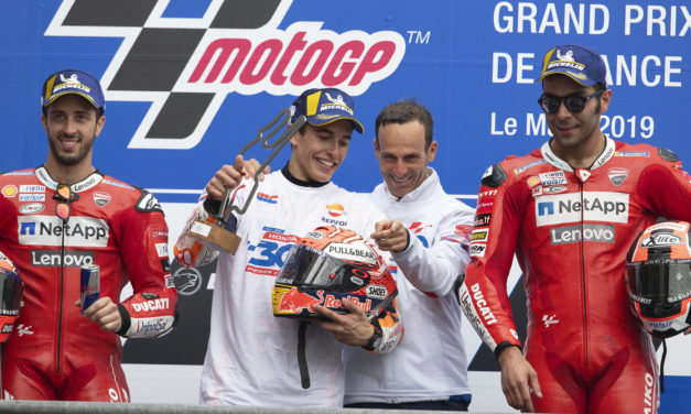 MotoGP: Marquez makes history for Honda ahead of a Ducati duel for the podium in France
