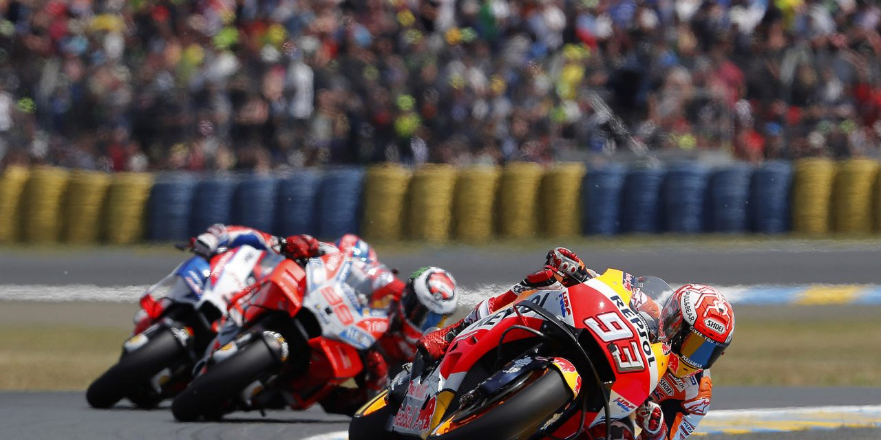 MotoGP: Marquez equals Stoners record as Rossi gets back on the podium