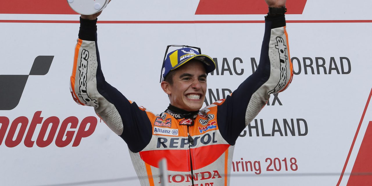 MotoGP: King of the Ring: Marquez takes ninth Sachsenring win in style with Rossi and Vinales on podium