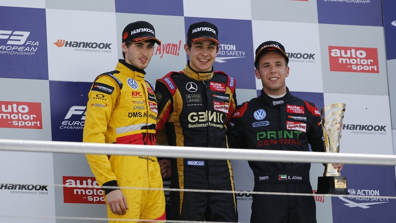 F3: Dubai's Ed Jones secures two maiden podium finishes in Hockenheim
