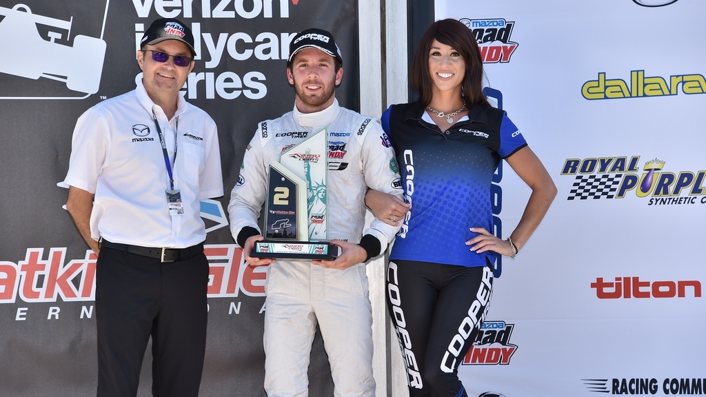 IndyLights: Jones takes second place at Watkins Glen as title fight goes down to the wire