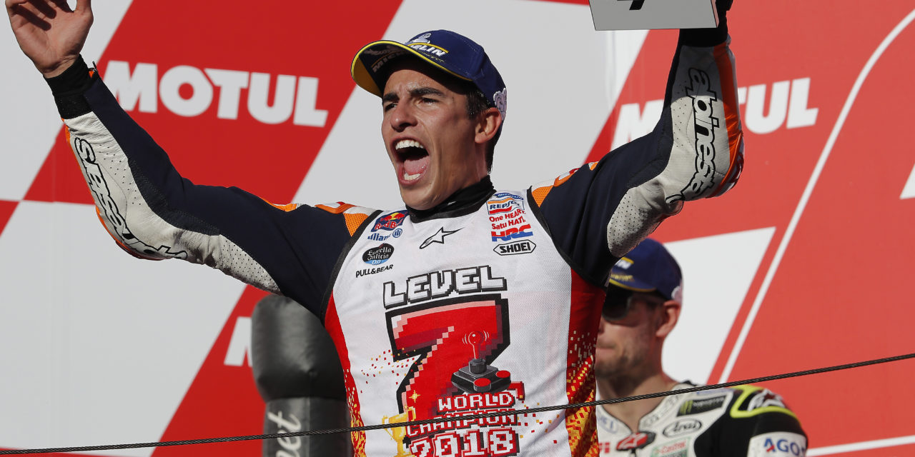 MotoGP: Sealed with a win: Marquez hits 'Level 7' as Dovi crashes out in Japan