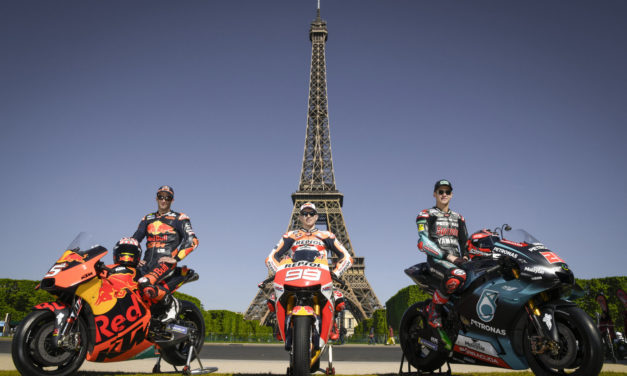 MotoGP: Home heroes Quartararo and Zarco joined by Lorenzo make a pit stop in Paris