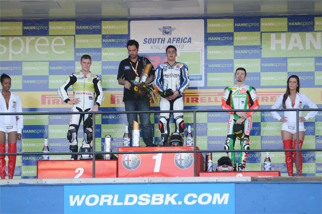 First win of season for Fabrizio and Haslam extends Superbike series lead in Kyalami