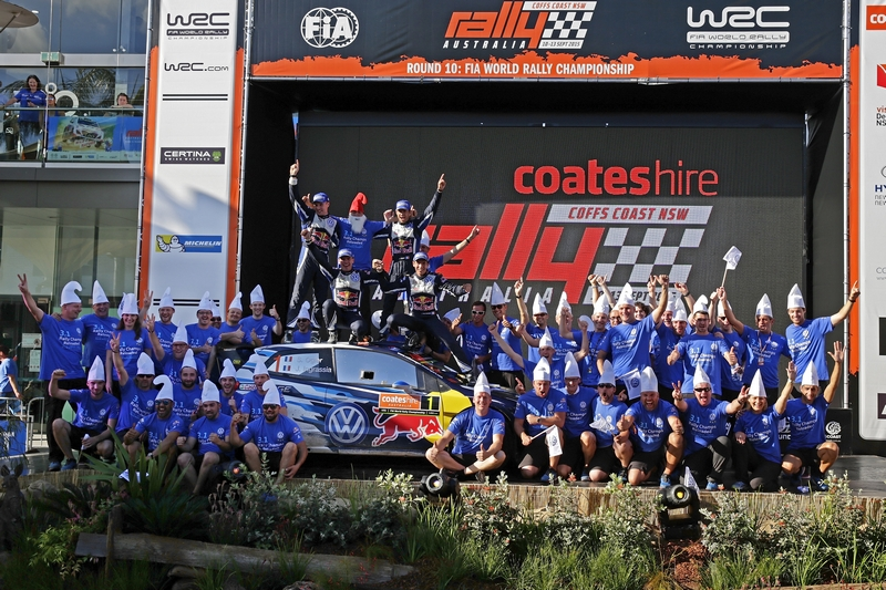 WRC: Volkswagen first & second in Rally Australia as Ogier and Ingrassia secure their third World Championship