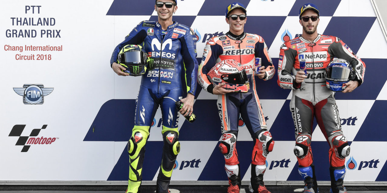 MotoGP: Marquez vs Rossi: the fight for pole gets tight in Thailand as 0.011 separates the two