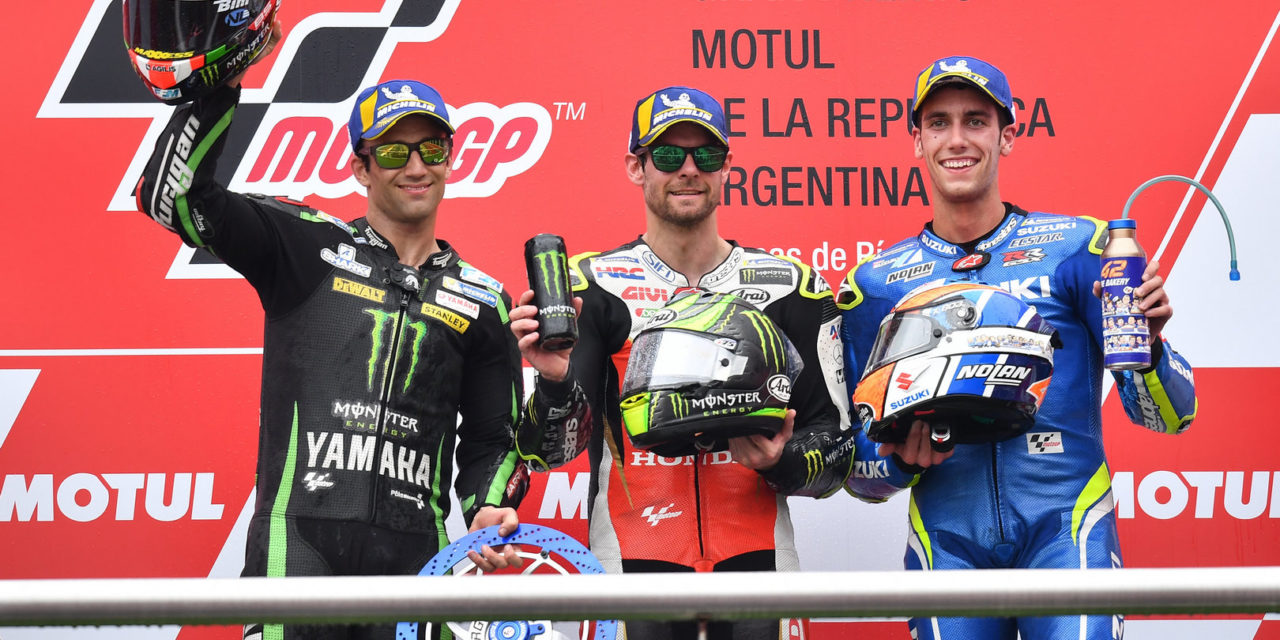 MotoGP: Crutchlow rises to the top as the title fight explodes in Argentina