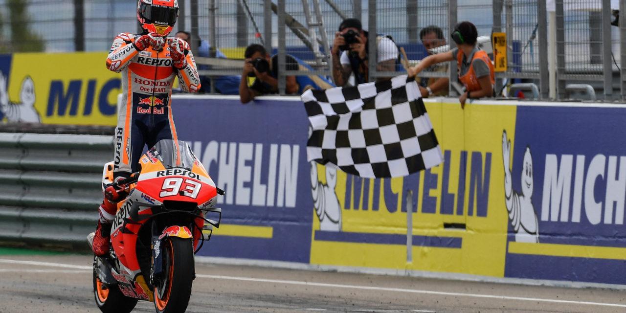 MotoGP: Marquez reigns MotorLand Aragon ahead of Dovizioso and Miller