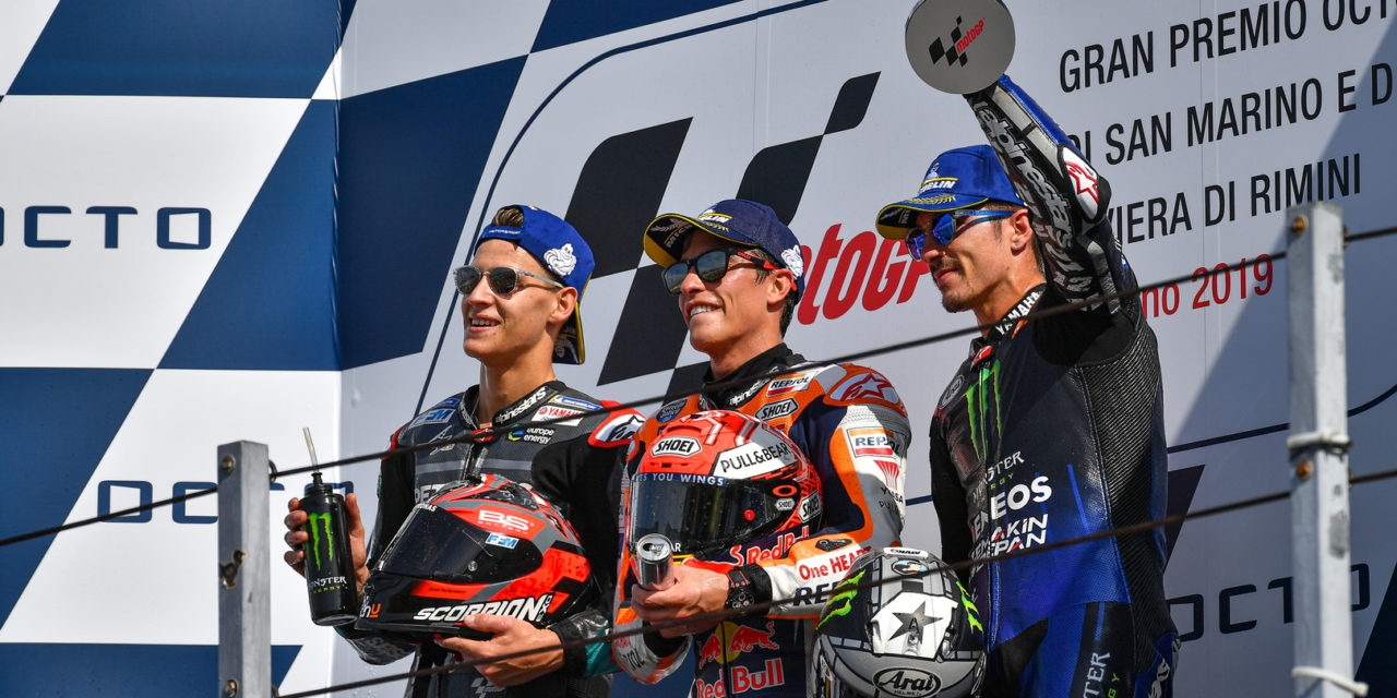 MotoGP: Marquez vs Quartararo: the rookie pushes the reigning Champion to the limit at Misano
