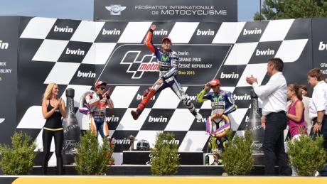 Brno podium