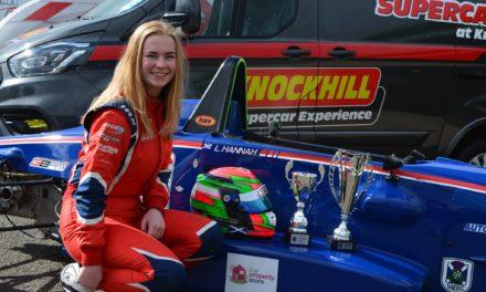 UK: Double podiums for young YRDA driver Logan Hannah at Knockhill FF1600 Scottish Championship