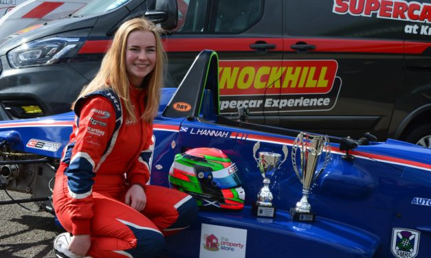 UK: Double podiums for young YRDA driver Logan Hannah at Knockhill FF1600 Scottish Championship