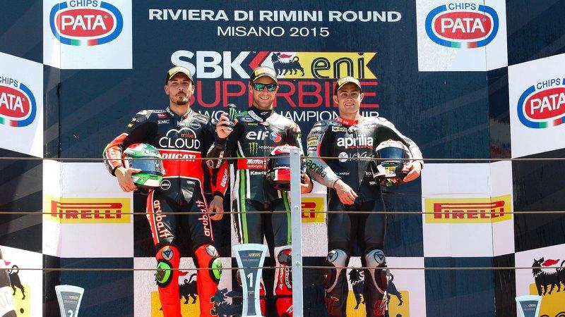 WSBK: Kawasaki duo Sykes and Rea take a win each in Misano