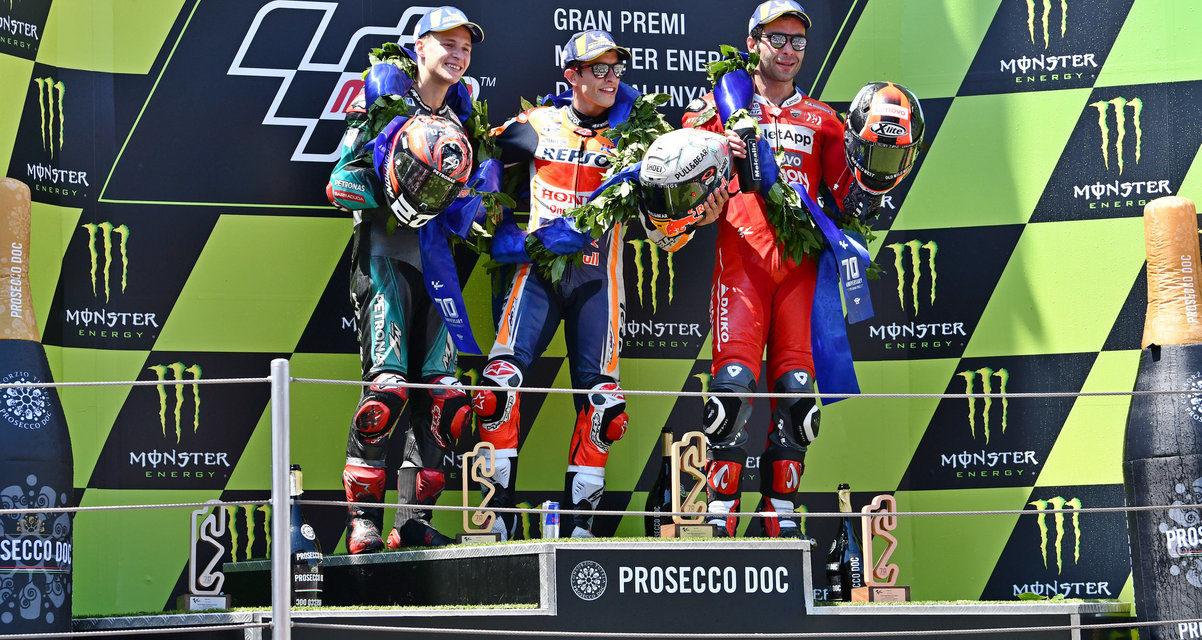 MotoGP: Marquez wins, Quartararo soars and chaos reigns at Catalunya