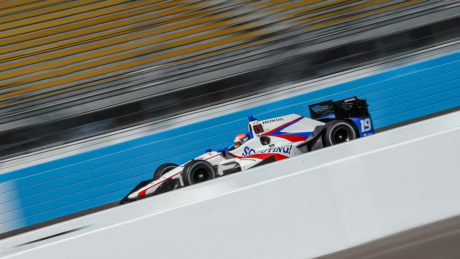 Ed Jones completed completed just shy of 300 laps in total,