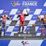 MotoGP: Petrucci is the wet weather master at Le Mans as Alex Marquez takes maiden MotoGP podium