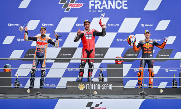MotoGP: Petrucci is the wet weather master at Le Mans as Alex Marquez takes maiden MotoGP podium