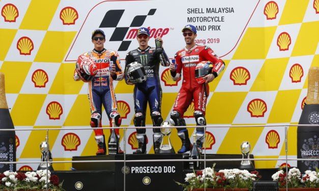 MotoGP: Viñales outpaces Marquez to rule Sepang while Dovizioso fights off Rossi for the podium