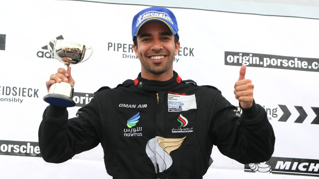 Porsche Carrera Cup: Scottish success for Omani driver Ahmed Al Harthy in Knockhill double podium