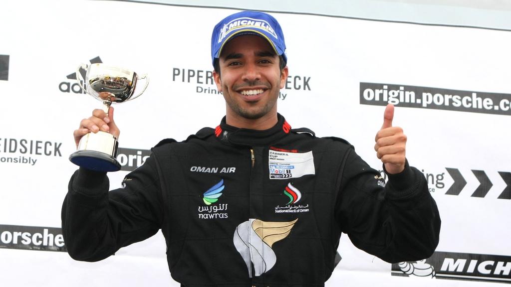 Porsche Carrera Cup: Scottish success for Omani driver Ahmed Al Harthy in Knockhill double podium