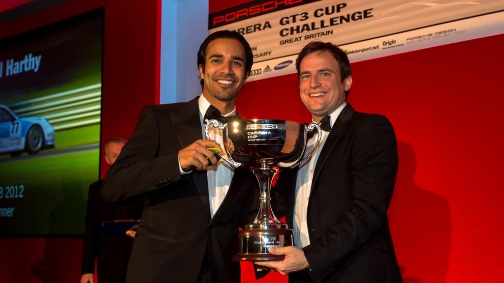 Porsche Carerra Cup: Oman driver Ahmed Al Harthy receives Porsche Carrera Cup GB Pro-Am1 winner's trophy