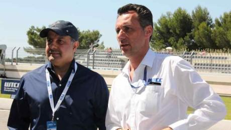 Nasser Khalifa Al Attiyah (QMMF President and FIA Vice President) and Francoise Rebeiro