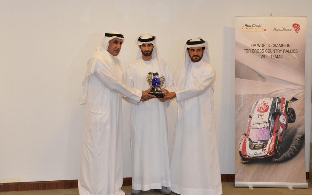 UAE: Sheikh Khalid Al Qassimi receives FIA Cross-Country World Cup trophy for 2WD category