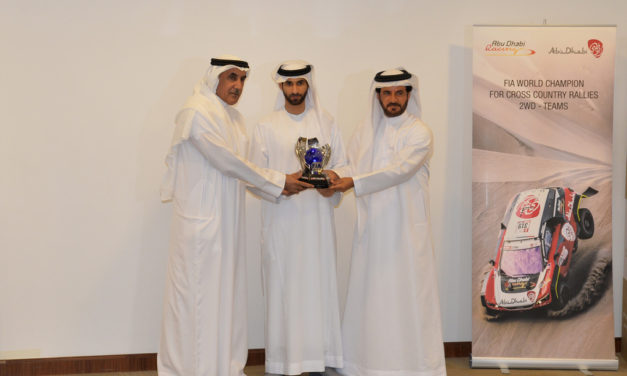 UAE: Sheikh Khalid Al Qassimi receives FIA Cross-Country World Cup trophy for 2WD category