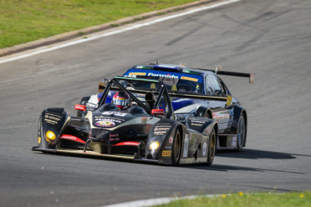 Amro Al Hamad leads one of the GT cars at Zolder