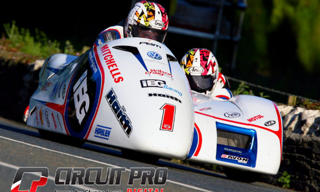 Isle of Man TT: Sidecar race 1 and the Birchall brothers scorch to a new lap record