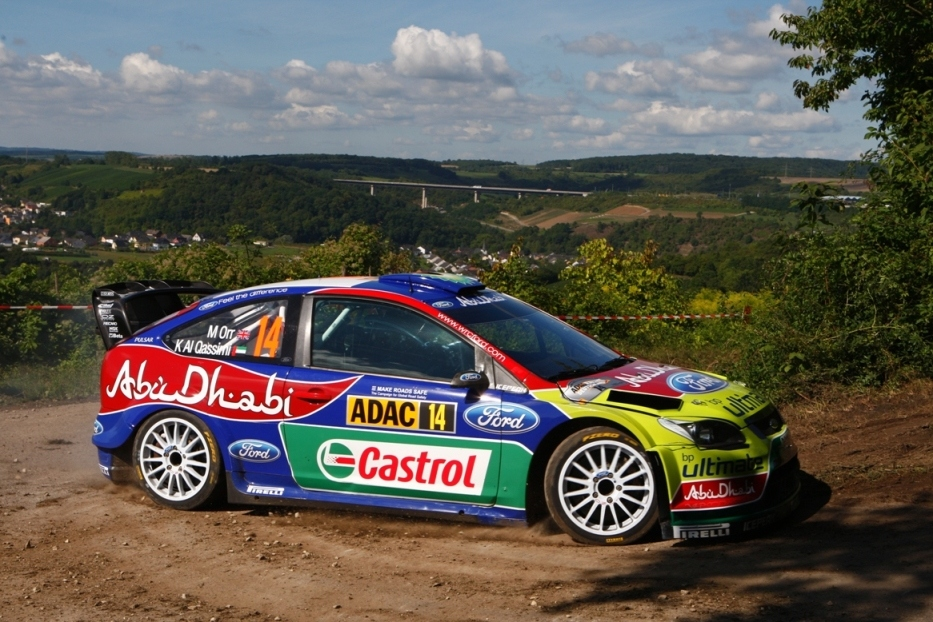 WRC: BP Ford Abu Dhabi ace Khalid Al Qassimi helped out of ditch by spectators in Germany