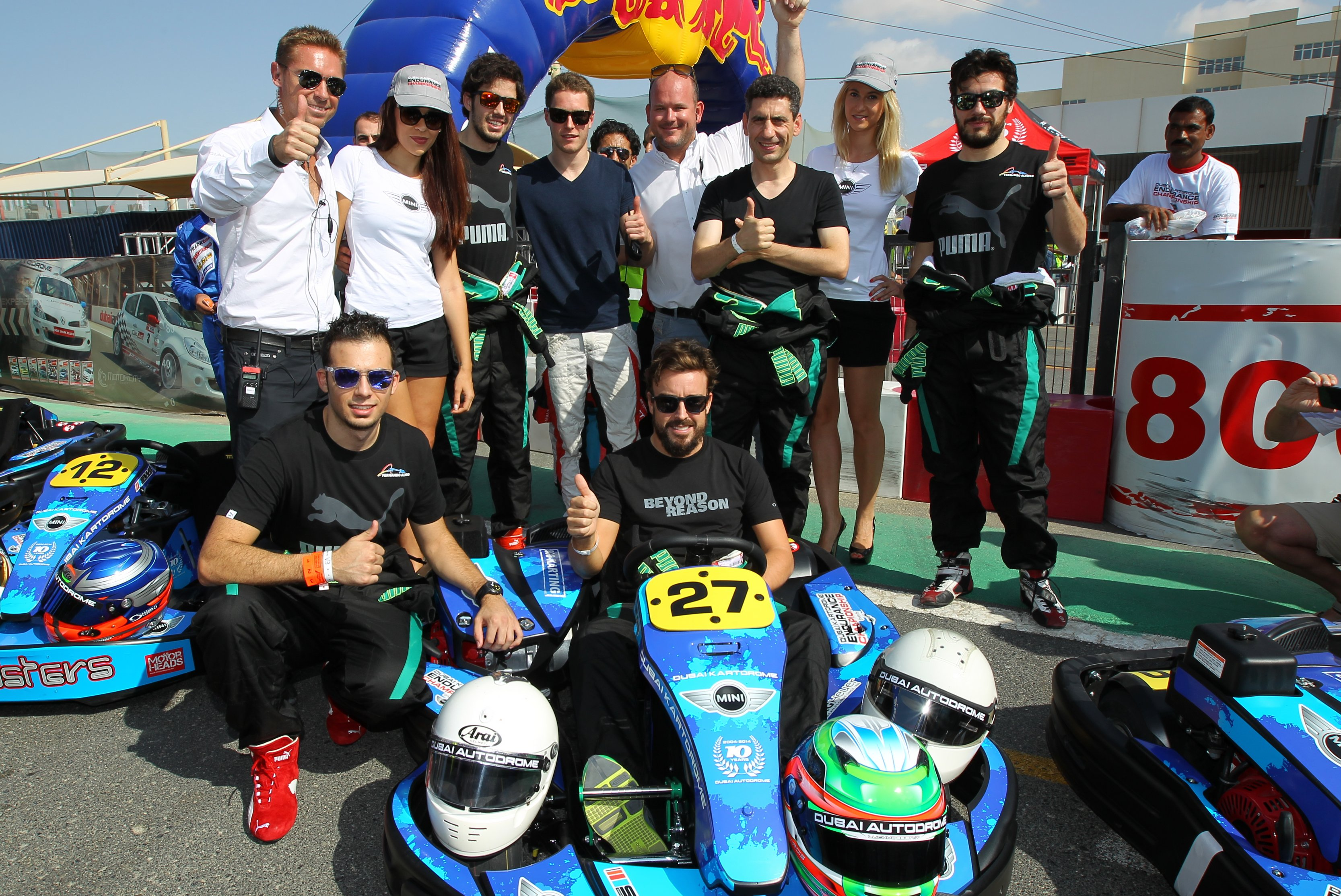 Dubai: Fernando Alonso stars in kart team at Kartdrome 24 Hours endurance race