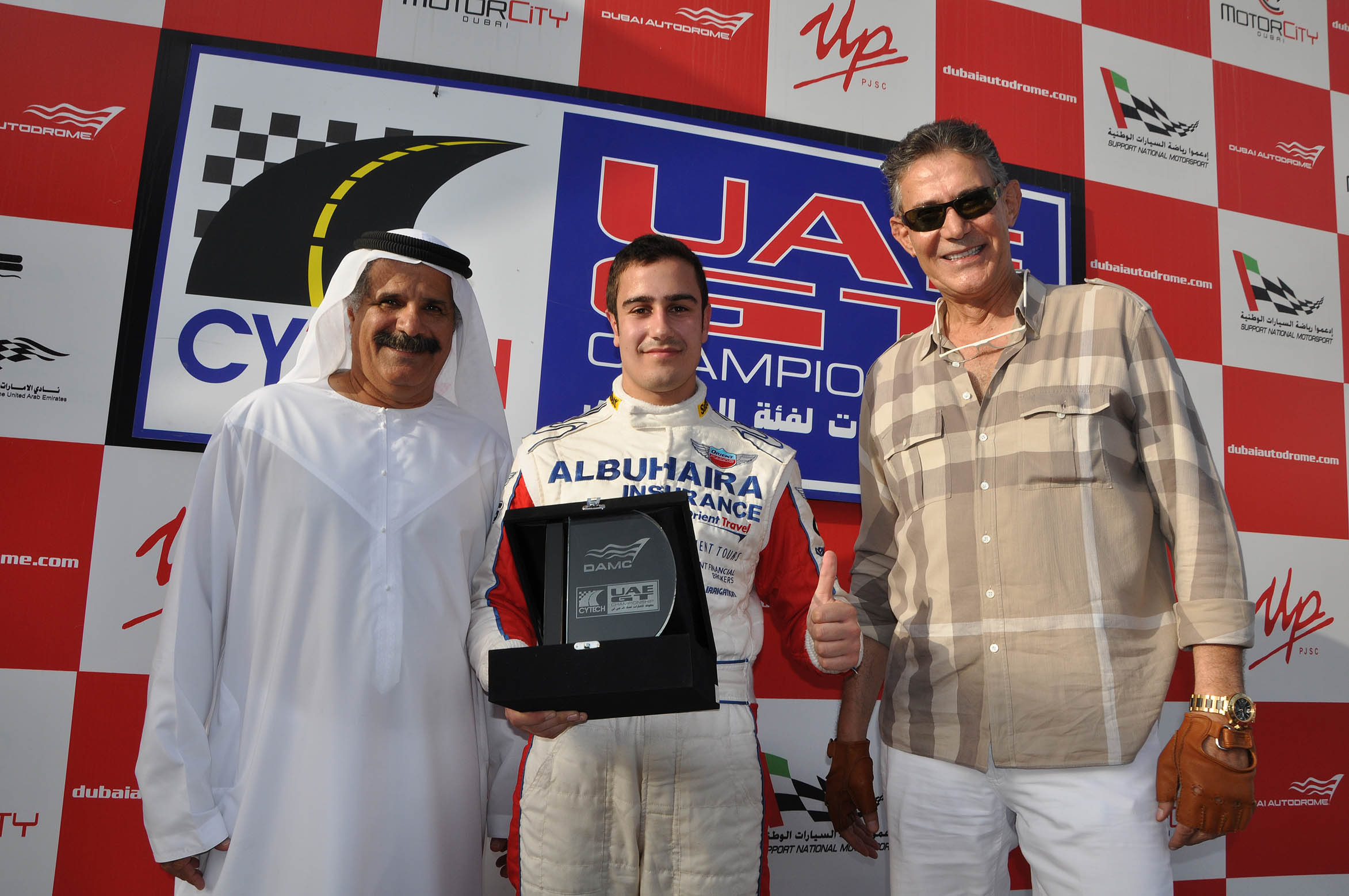UAE National racing, Ghanem takes his first win of season and closes in on UAE GTC title