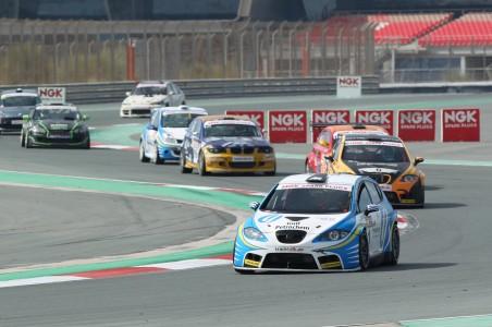 Costas Papantonis leads the pack in NGK Racing Series at Dubai Autodrome last season