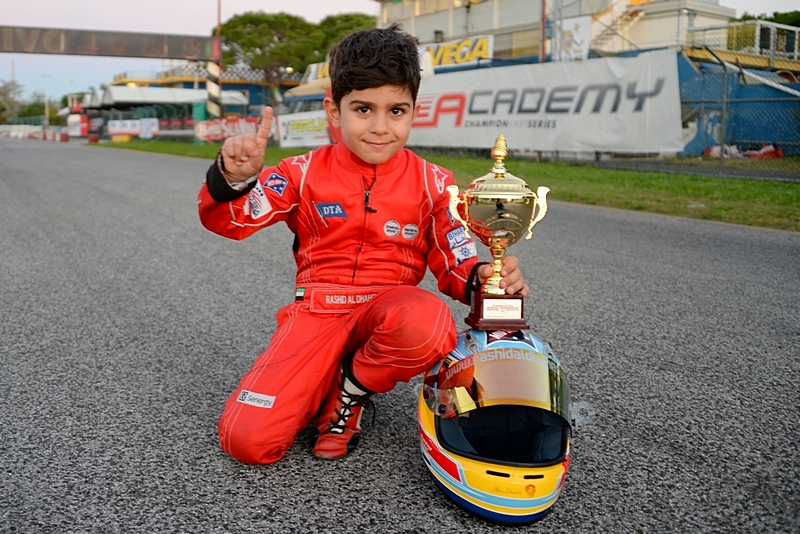 Dubai: Rashid Al Dhaheri ends his 2014 Italian karting season in style