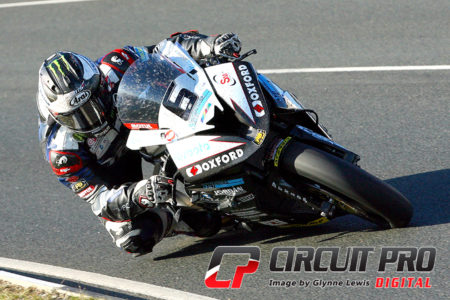 Michael Dunlop on his way to the Senior TT win after a delayed start