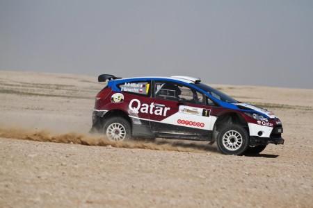 Dakar winner Nasser Saleh Al-Attiyah in action at the Qatar International Rally last year