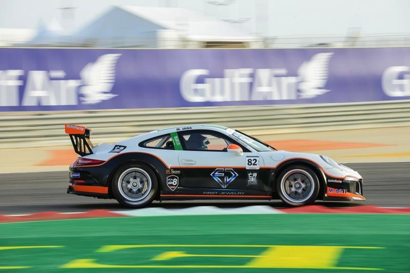 Bahrain: Saudi driver Mohammed Jawa enjoys podium success in Porsche GT3 support race at Bahrain Formula 1