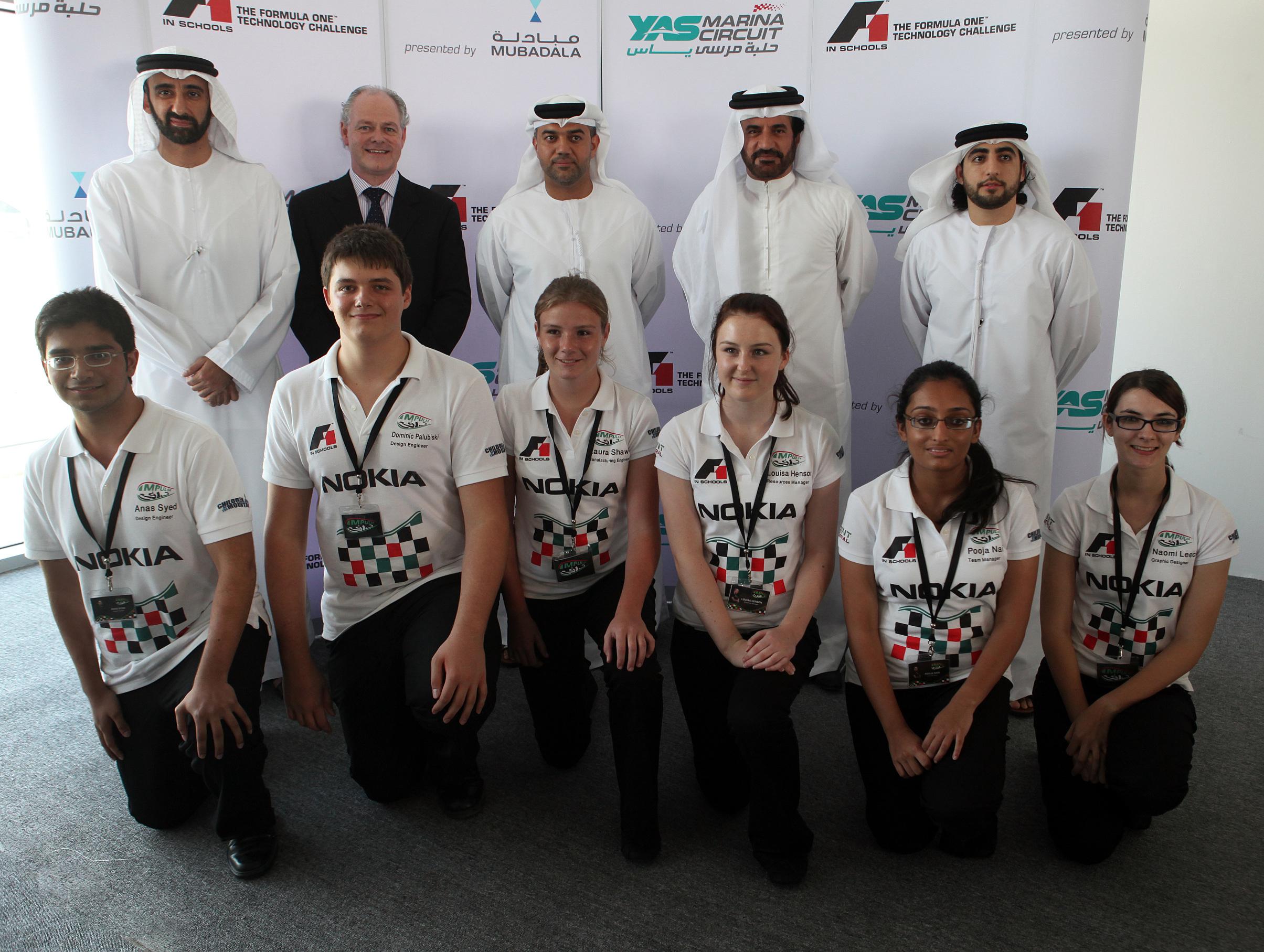 F1 in Schools 'Team Impulse' from Dubai College, will represent the UAE in Singapore
