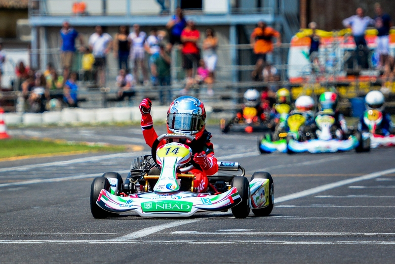 Abu Dhabi: Karting sensation Rashid Al Dhaheri claims his maiden win in Italian parolin Championship