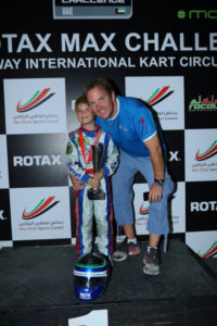 Harry celebrates with more silverware during the 2015/16 season in the Bambino Class