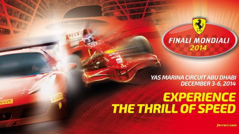 Events: Ferrari Finali Mondiali from 3 to 6 December in Yas Marina Circuit, Abu Dhabi