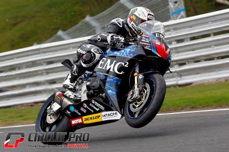 John McGuinness on the EMC2 Honda will be pushing for more IOM TT 2015 success