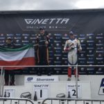 UK: Fifteen year old Kuwait racer Haytham Qarajouli celebrates maiden double rookie podium at Silverstone