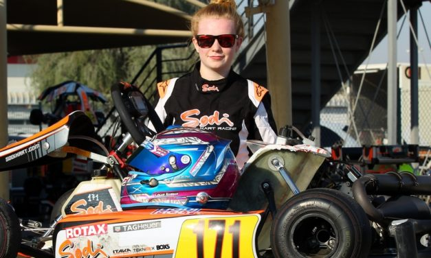 Dubai: Former UAE based Girl Racer Logan Hannah back on track at Dubai Kartdome