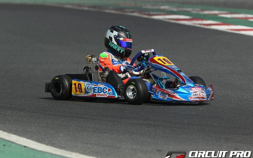Dubai: Harry Hannam luckless at the 'O' Plate Championship round at the Dubai Kartdrome