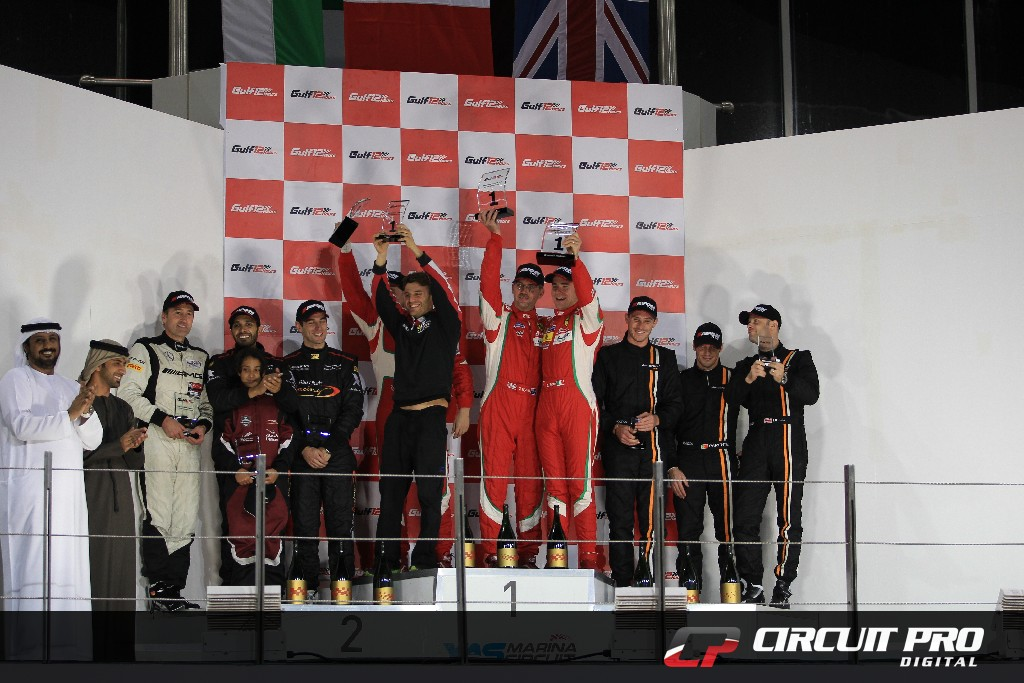 Gulf 12h:  AF Corse Ferrari takes the victory in hotly contested Gulf 12hr at Yas Marina Circuit