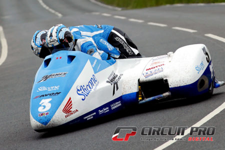 John Holden and Andy Winkle on their way to a race one win