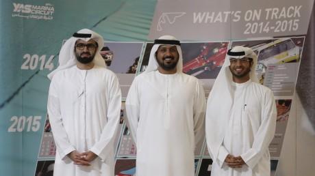 Left to Right Faisal Abdulla, Al Tareq Al Ameri,  Ahmed Al Kaabi